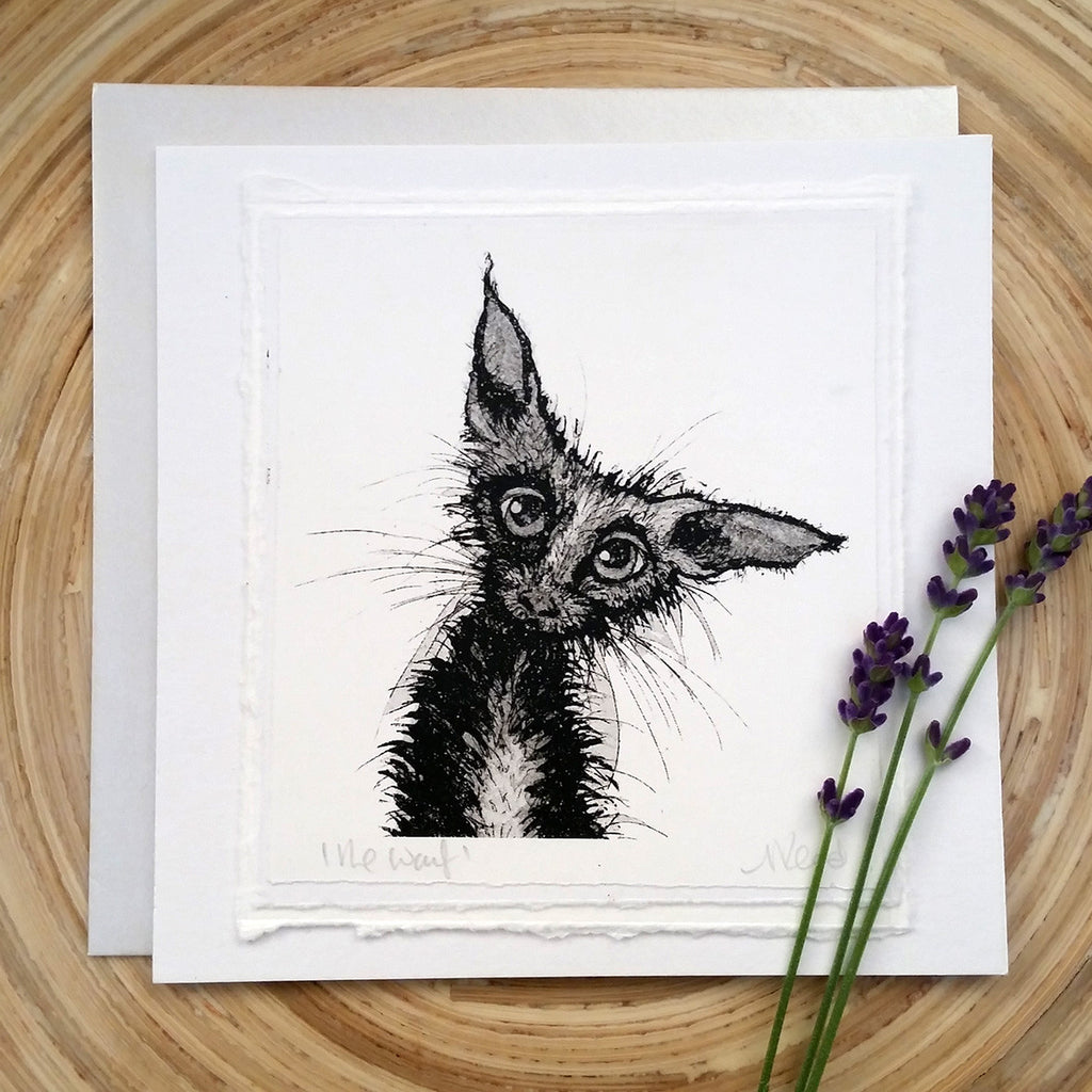 The Waif, Cat - Greetings Card