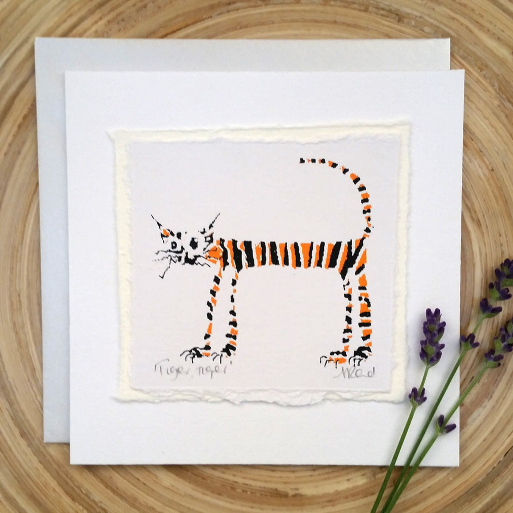 Tiger Tiger, Cat - Greetings Card