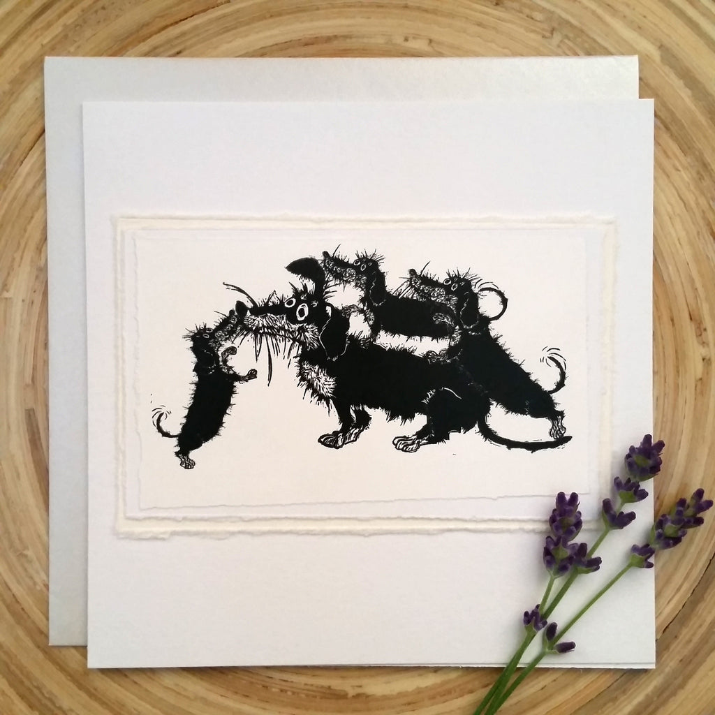 Dachshund Family - Greetings Card