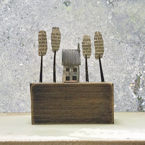 'Double Fronted House' Metal & Driftwood Scuplture