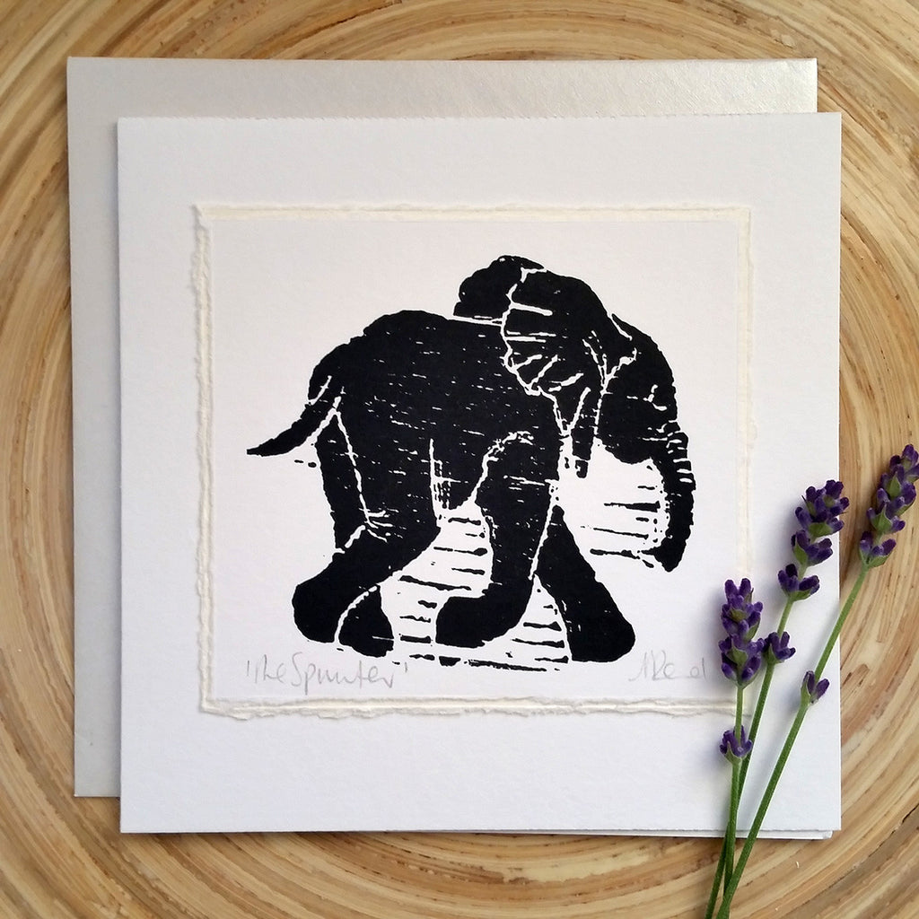 Sprinter, Elephant- Greetings Card