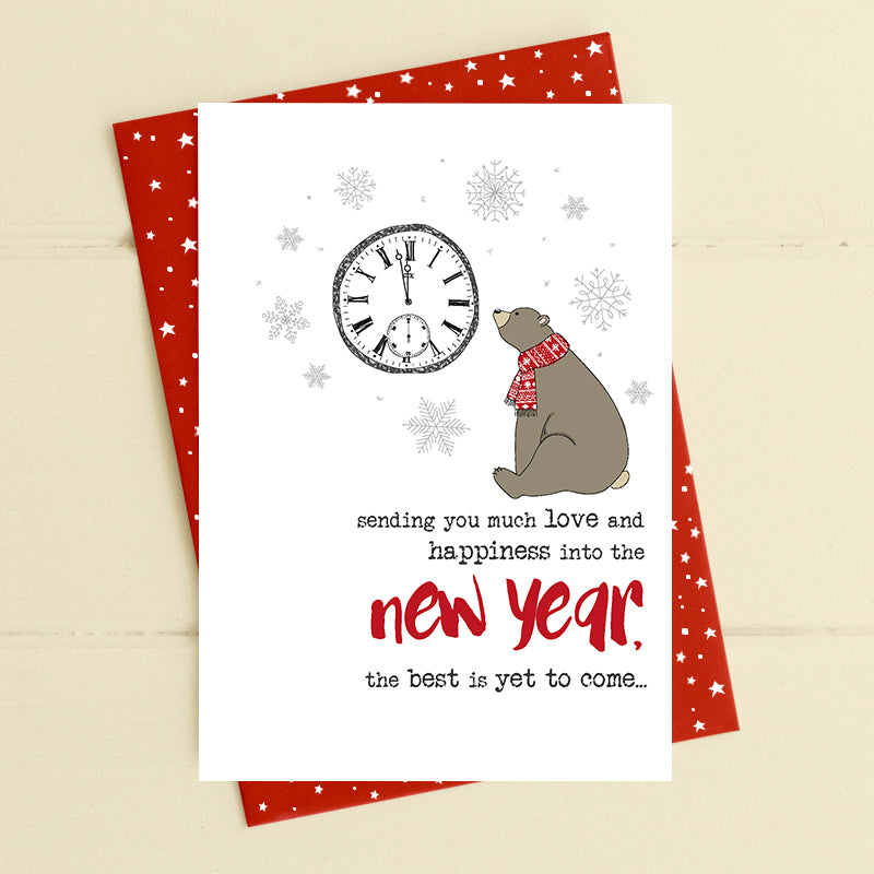 Sending happiness into the new year - the best is yet to come - New Year Card