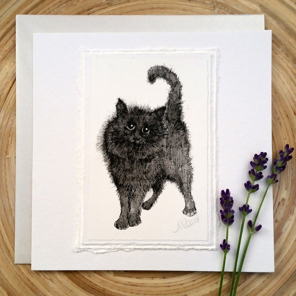 Fluffy Cat- Greetings Card