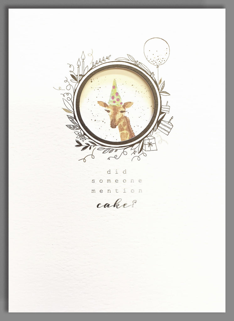 Did someone mention cake? Giraffe card
