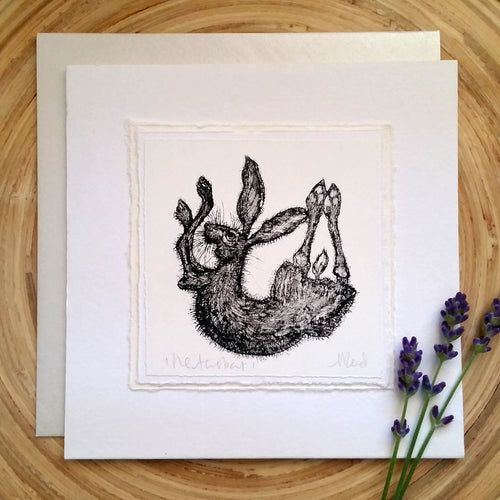 The Acrobat, Hare - Greetings Card