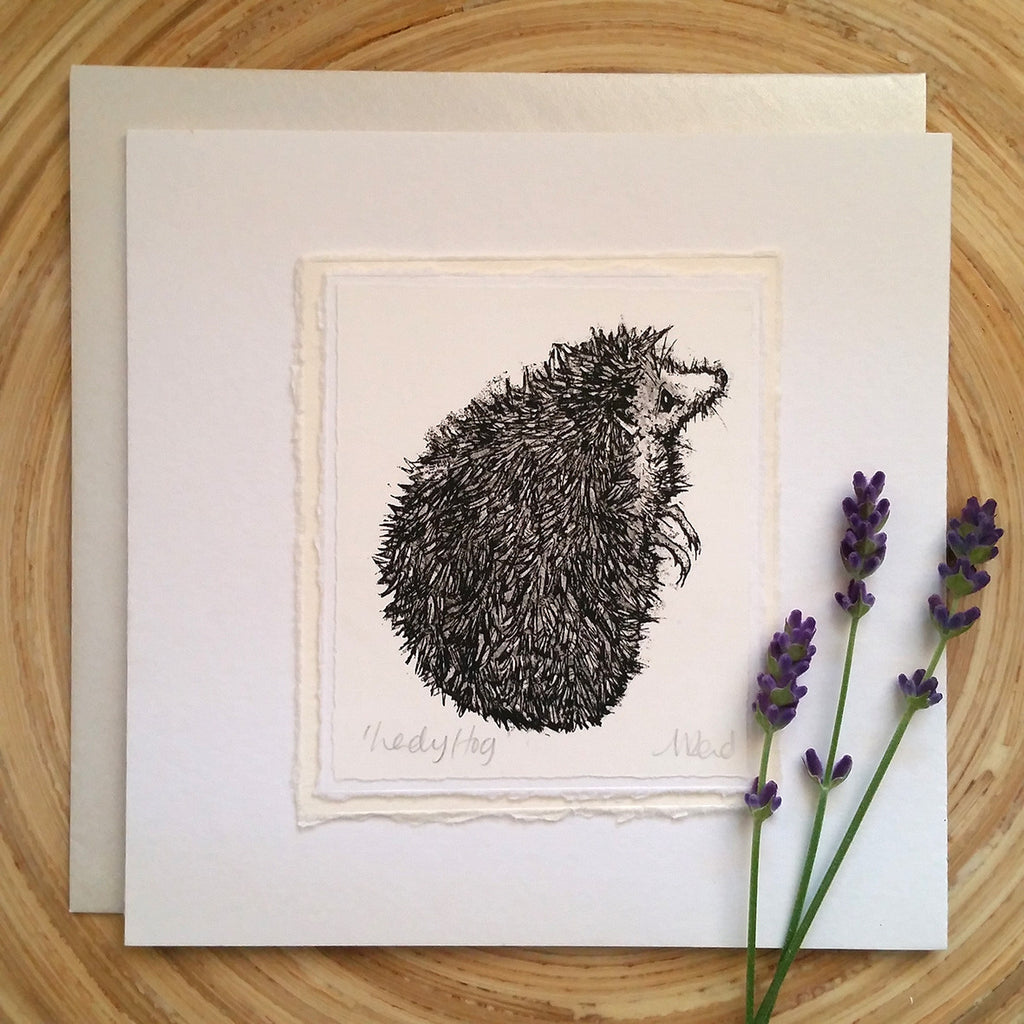 Lady Hog, Hedgehog - Greetings Card