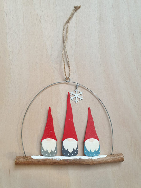 Trio of Gnomes Hanging decoration