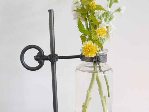 Industrial Style Glass Flower Vase