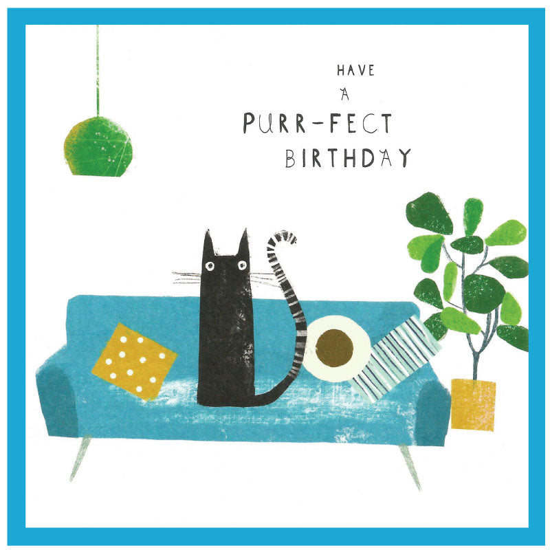 Have a purr-fect birthday - Greetings card