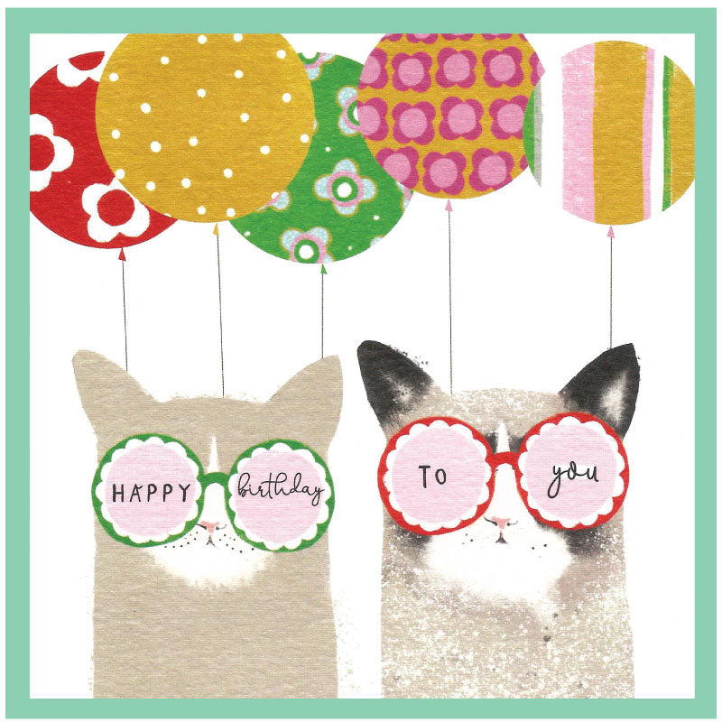 Happy Birthday to You - cats in shades card