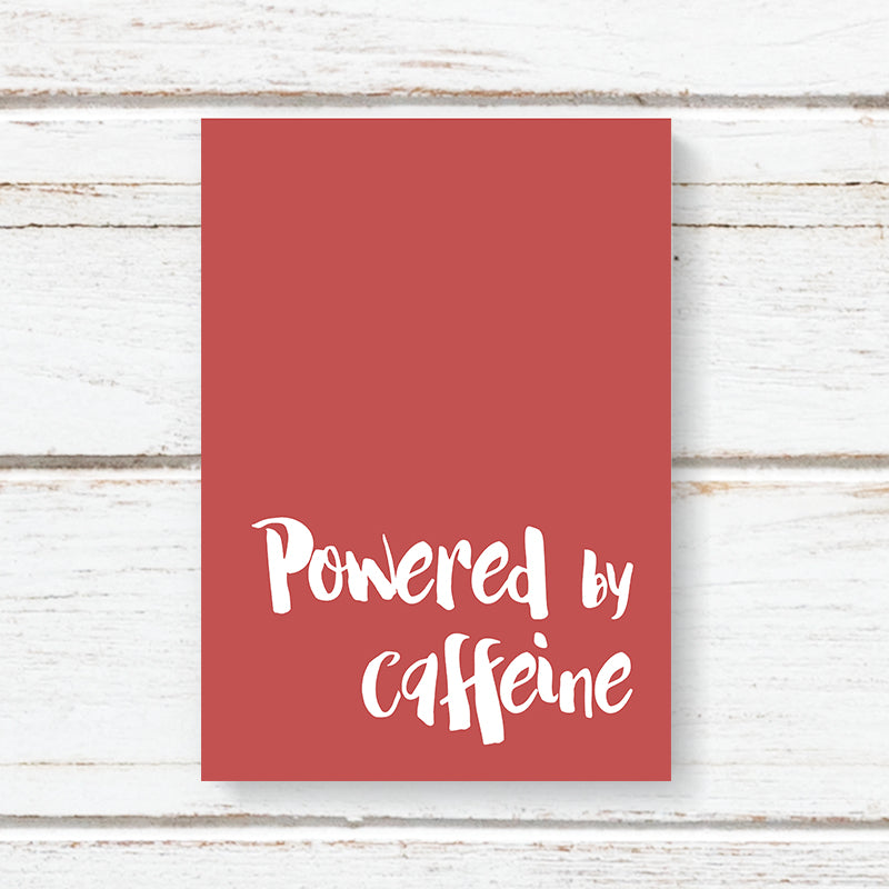 Powered by caffeine  .... 96 page Note book