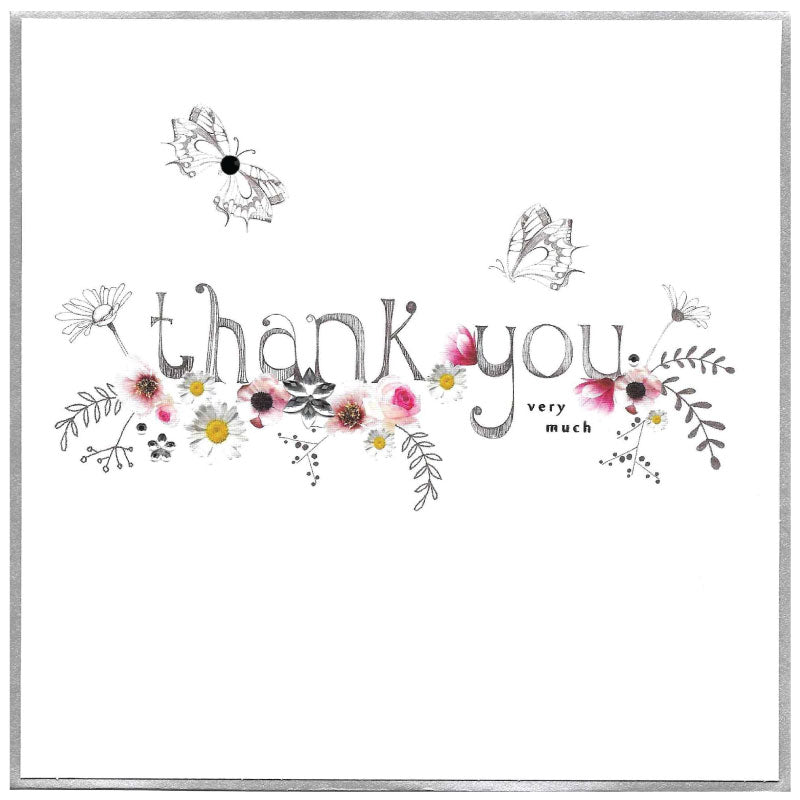 Thank  you very much  butterflies- Greetings card