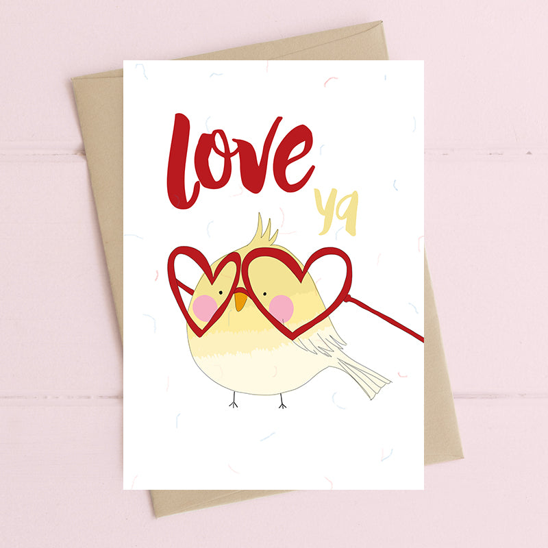 Love ya - Greetings Card