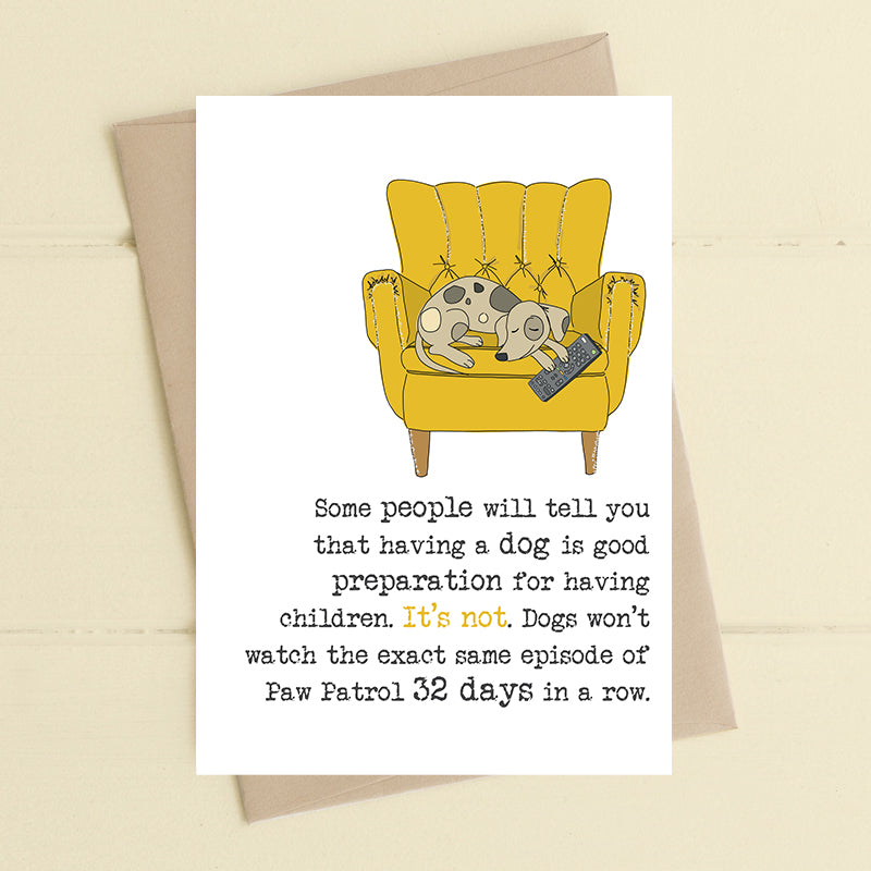 Dogs and prep for children - Greetings Card