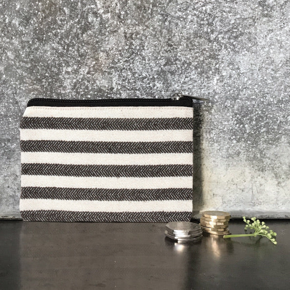 Purse- Wide Black Stripes