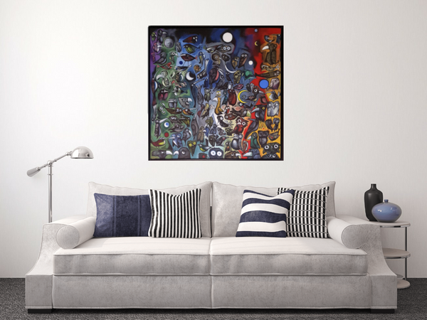 Night Birds - Original on Canvas