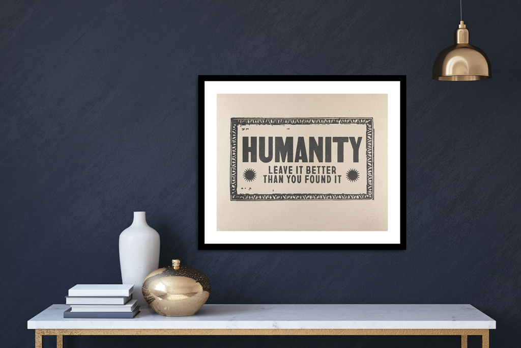 Humanity Handmade Vintage Press Print