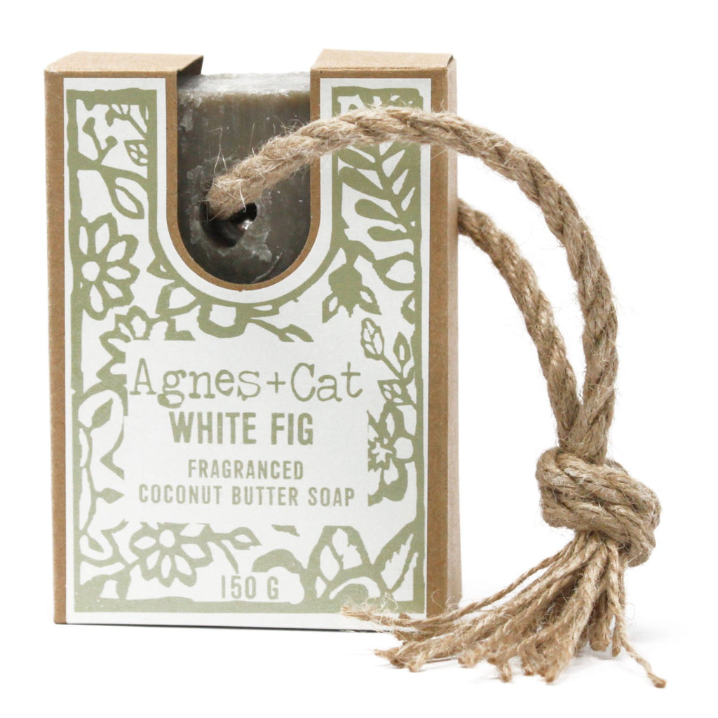 Soap on a rope - White Fig