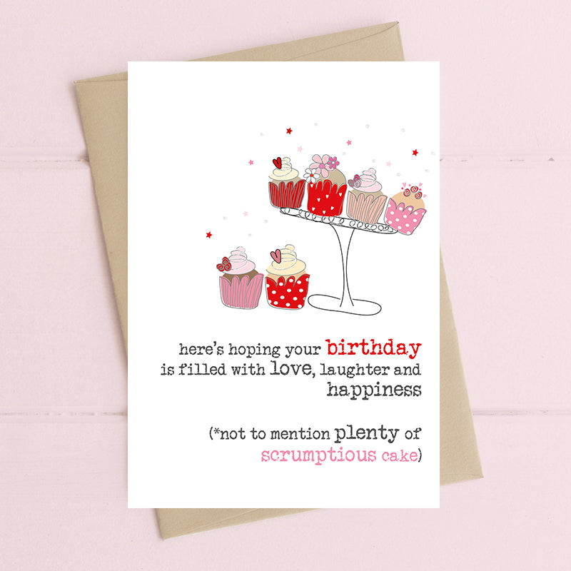 Birthday full of cake - Greetings Card