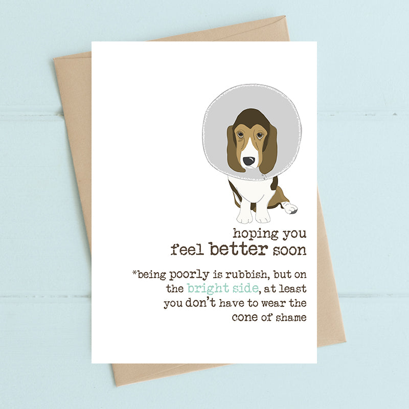 Hoping you feel better soon - Greetings Card