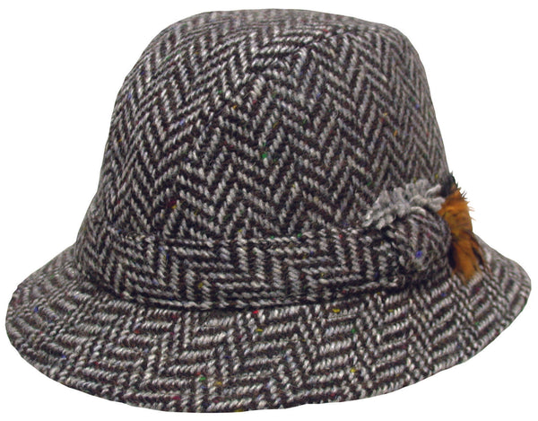Hanna Herringbone Tweed County Hat