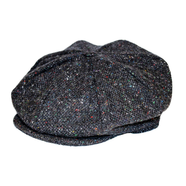 Hanna Plain Donegal Tweed 8 Piece Cap.
