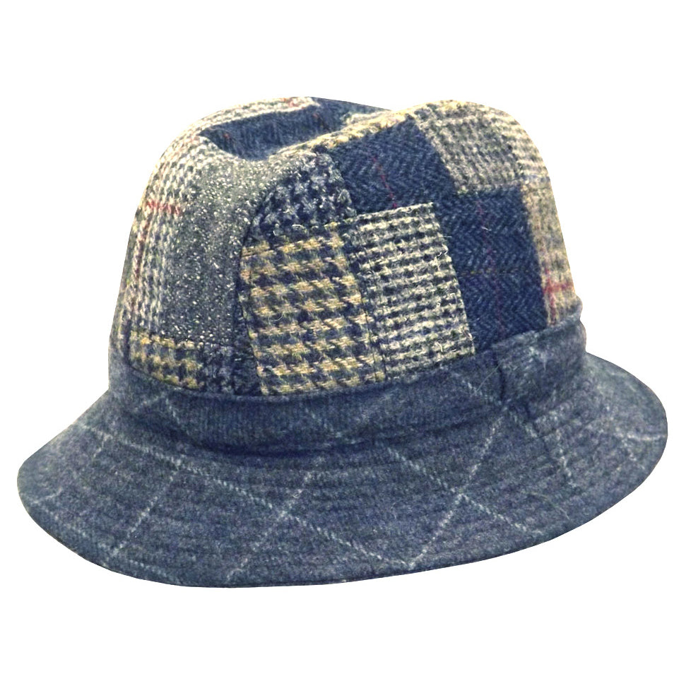 Hills Wool Tweed Patchwork Casual Hat