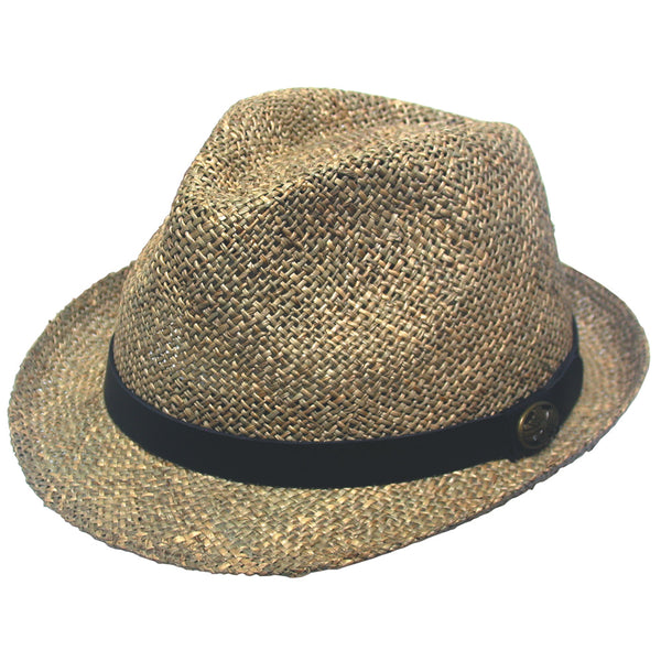 Avenel Twisted Seagrass Trilby Hat