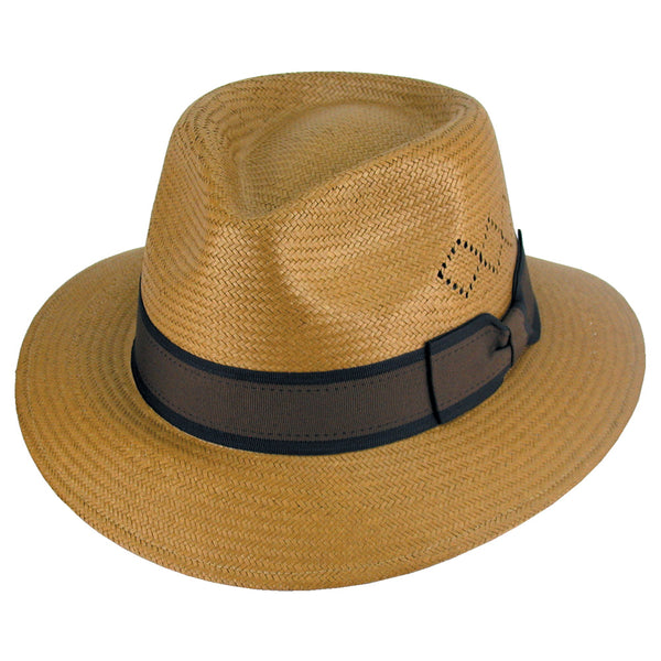 Avenel Diamond Weave Panama Hat