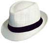 Avenel Toyo Trilby with Black Ribbon