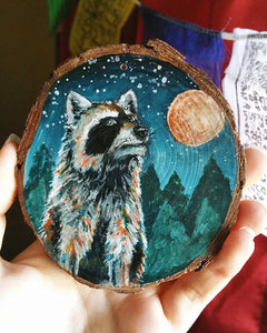 Custom Wood Round Painting