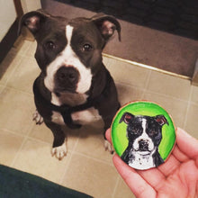 Pet Portrait Wood Round, Custom Commission