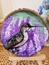 Load image into Gallery viewer, Hummingbird Wood Round