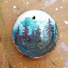 Load image into Gallery viewer, 42 Mini Evening Trees Wood Ornament