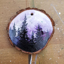 Load image into Gallery viewer, 24 Mini Evening Trees Wood Ornament
