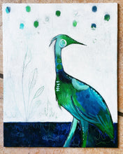 Load image into Gallery viewer, Heron, 8x10 Canvas Panel