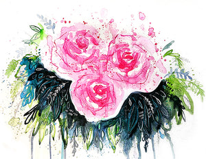 """Abstract Roses"" Fine Art Print"
