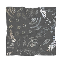 Forest Prints Scarf Dark