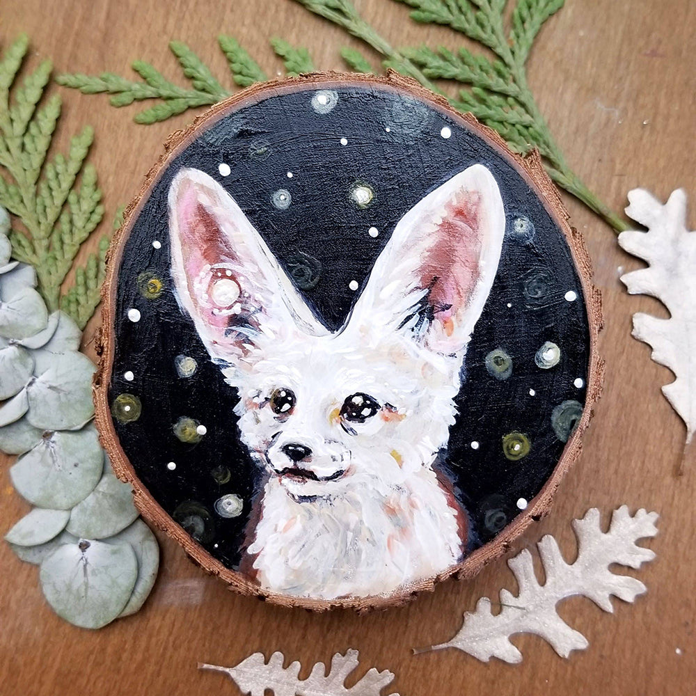 Fennec Fox Wood Round