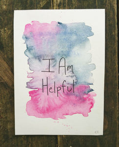 I Am Helpful || Original Watercolor