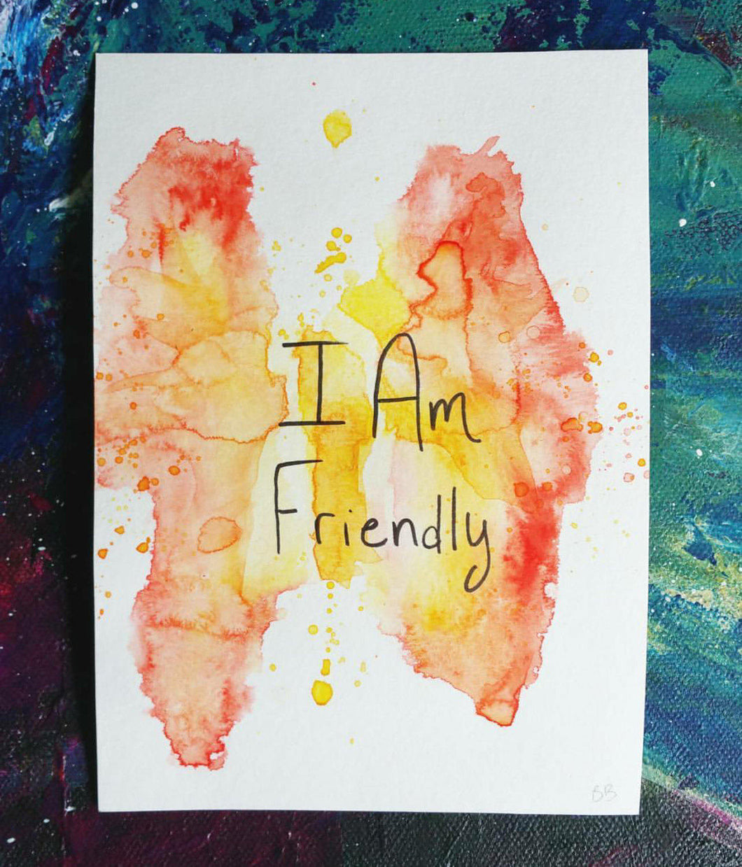 I Am Friendly || Original Watercolor