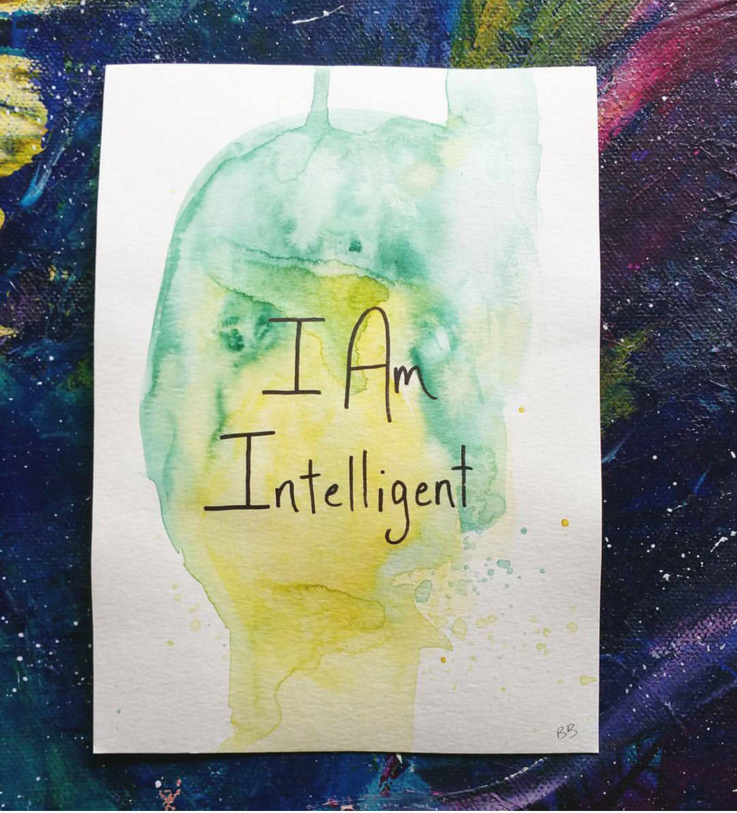 I Am Intelligent || Original Watercolor