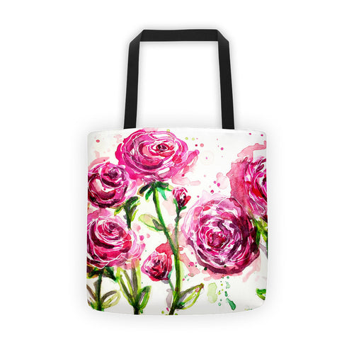 Watercolor Roses Tote