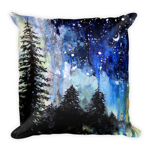 Wash || Evening Trees Square Pillow