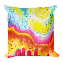 Bright Desert Square Pillow