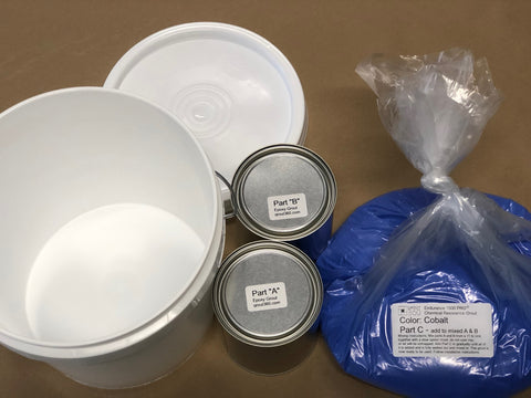 Epoxy Grout Grout360 Bucket Aggregate Parts A and B