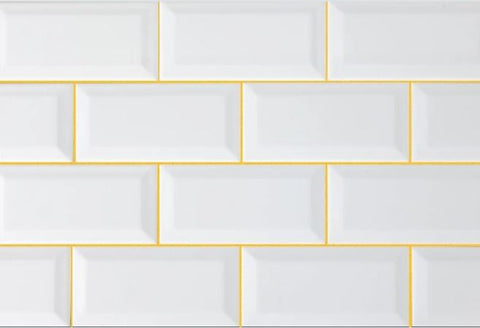 Sunflower Grout with White Subway Tiles Grout Colors Selector