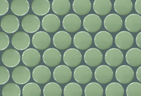 Dark Green grout with Moss Penny tiles by Grout360