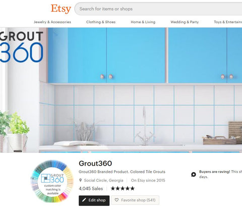 Etsy Store Front Grout360