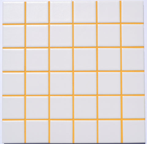 Sunflower colored grout.